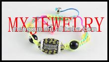 2014 yiwu Latest!! Friendship football sports weave bracelet