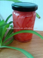 Glass or plastic bottle packaging pink color pickled sushi ginger(shoga,gari)