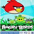 Veludo angry birds reativa toalha de praia impressa