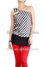 2014 new fashion ladies sexy stripe top blouses fashion blouse pakistani style long kurta
