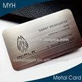 نحى مؤثرة ومثيرة للإعجاب بطاقات الأعمال المعدنية
