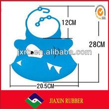 2014 Customized design silicone rubber baby bibs/hair cutting bibs