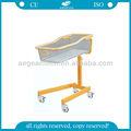 Ag-cb020 ce iso hastane metal çerçeve abs katlanabilir deniz bebek yatak