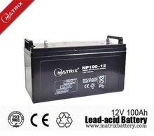 12V 100AH deep cycle solar batteries
