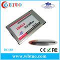 Pcmcia cardbus usb2.0 480 2mbps interne 2 port pour ordinateur portable type ii slot