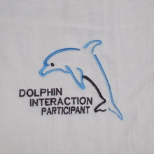 100 percent cotton Nordland embroidered velour bath towel dolphin