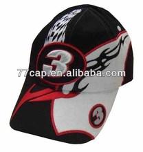 Top Quality 3D Embroidery Racing Cap Baseball Caps