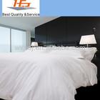 Luxury percale 300TC white 100% cotton sateen sheet set