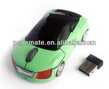 2.4G wireless mini car shape mouse with nano receiver