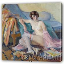 Lady Figure Oil Painting
