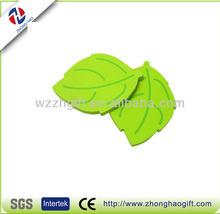 Note taking funny leaf shaped die cut memo pad