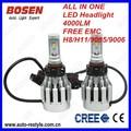 Super 2014 new cree 6000lm 60w de alta potencia led bombilla del faro h4 alta/bajo h7 h8 h11 p13 h16 psx26 9005 9006 9007 hb3 hb4 hb5