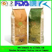 custom printing laminated coffee bean packing bag