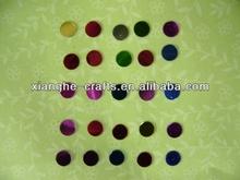 common round colorful confetti for cardmaking decoration