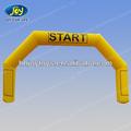 Treinamento desportivo inflável finish line, de início do arco de linha, amarelo inflável do arco