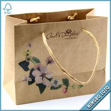 Custom Printing Kraft Paper Bag, Brown Paper Bag Wholesale, Paper Shopping Bag