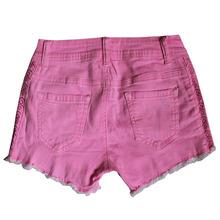Gzy 98% de algodón + 2% spandex de lujo damas pantalones vaqueros pantalones cortos damas pantalones vaqueros cortos baratos jean pantalones cortos
