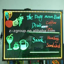 Hight brightness RGB led fluorescent marker boards for cafe shop
