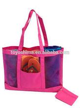 mesh beach tote bag / large mesh beach bags