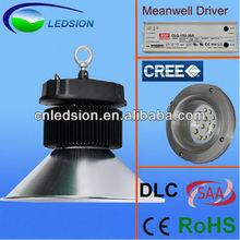 ETL DLC CE ROHS SAA CREE chip Mean Well driver ip65 80Ra ip65 200w led high bay light factory