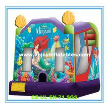 2014 hot sale/indoor/outdoor/funny/pvc/air/tropical/crayon/ocean/inflatable castle slide combo