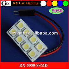 Wholesale PCB Dome T10/BA9S/Festoon 8 SMD 5050 LED CAR Interior LED Light Bulbs