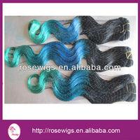New arrival Brazilian Virgin hair Extensions 3 Tone Color Ombre Hair