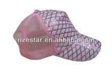pink color & ventilate baseball cap