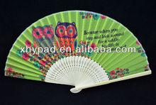 fancy silk fabric fdancing hand fan