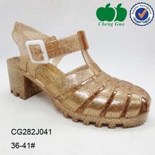 ladies sexy gold beach sandals high heel