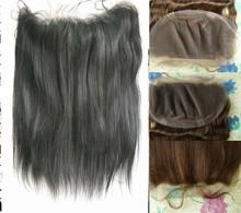 Wholesale cheap unpressed natural color virgin remy peruvian human hair silk base closure lace frontal 13x4