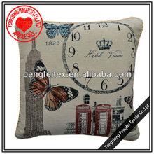 Red telephone kiosk decorative textile cushion cover
