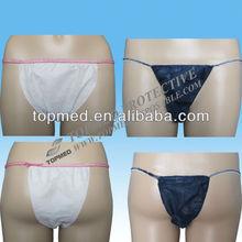 disposable nonwoven ladies panties (men's panties, spa panties)