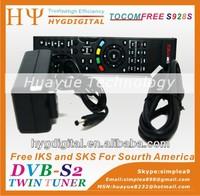New fta satellite receiver TOCOMFREE S928S IKS SKS FREE For Latin America