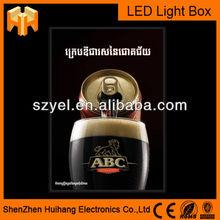 Excellent brightness LED light box / LED billboard super thin