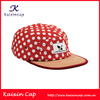 Custom-Made Flat Brim 5 Panel Camp Cap Wholesale Five Panels Cap With Dots Pattern Cap And Hats