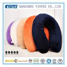 Travel Colorful Plush Cover Animal 55D Memory Foam U Shape Neck Pillow Pattern Factory