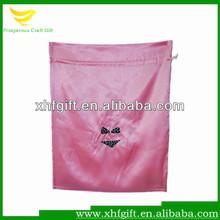 Custom drawstring satin lingerie bag