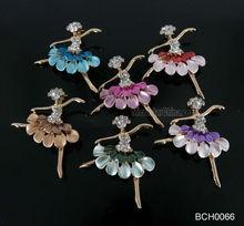 Modern design ballerina custom made brooches