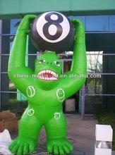inflatable cartoon custom inflatable green orangutans , custom inflatable model