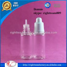 20ml PET eliquids bottles for e-liquid dropper bottle,e-cigarette liquid bottles ISO8317/TUV/SGS