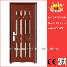 Yongkang Single Safety Door With Grill Single Safety Exterior Door Design SC-S004