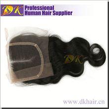 TOP Grade Swiss lace closure natural heat protectant hair