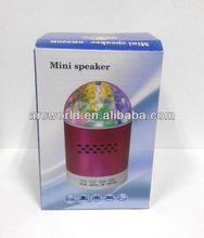 AWS599 Portable Moving Disco Light Loud Speaker Made In China, aaa battery speaker