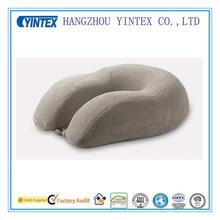 Grey Soft Cheap Small 55D Memory Foam Cute U Shape Japanese Neck Pillow Manufacture