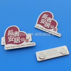 Senior Citizen Home Safety Association custom logo metal sticker magnetic name plate name badge