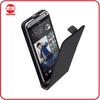 Manufacturer Black Premium Leather Ultra Slim Magnetic Vertical Flip Cover Case for HTC Desire 700