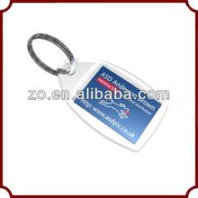 2014 custom promotional personalized fashionable clear acrylic keychains wholesale