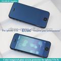 9h dureza de vidro arredondado protetor de tela folha cor bonita espelho para iphone 5s