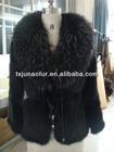 RACCOON FUR COLLAR , Mink Fur coats /ladies' fur garment /mink knitted JACKET
